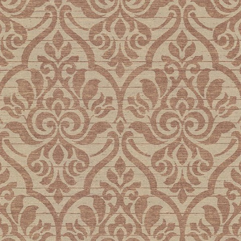 Malia Burgundy Heirloom Damask