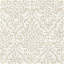 Malia Sand Heirloom Damask