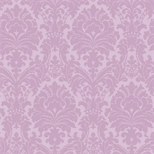 Ginger Purple Brocade Damask