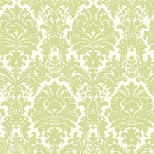Ginger Green Brocade Damask