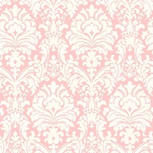 Ginger Pink Brocade Damask