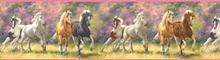 Born To Run Yellow Wild Horse Portrait Border