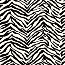 Alice Black Faux Zebra Stripes