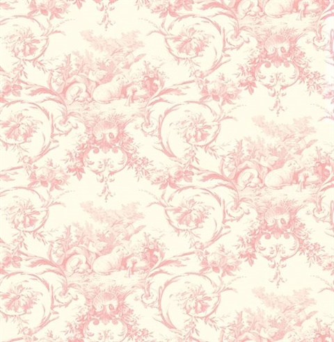 Kennedy Pink Modern Toile