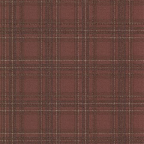 Fox Hollow Dark Red Plaid