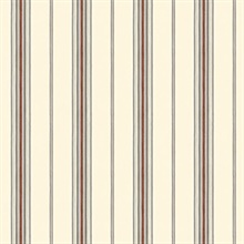 Camp Red Cabin Stripe