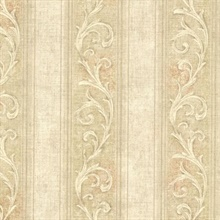 Farnworth Gold Scroll Stripe