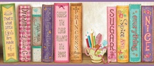 Vivi Purple Sugar and Spice Bookshelf Border