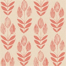 Scandinavian Red Block Print Tulip