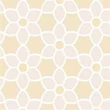 Blossom  Beige Geometric Floral