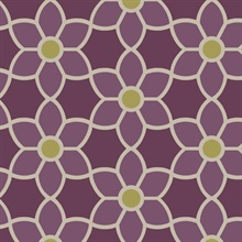 Blossom  Purple Geometric Floral
