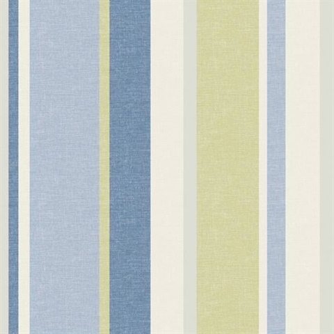 Raya Blue Linen Stripe