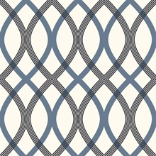 Contour Blue Geometric Lattice