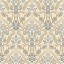 Fusion  Blue Ombre Damask