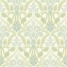 Fusion  Green Ombre Damask