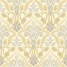 Fusion  Yellow Ombre Damask
