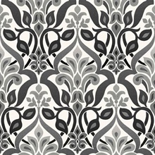 Fusion  Black Ombre Damask