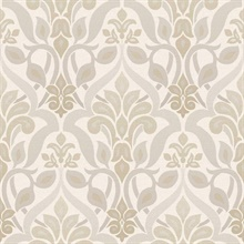 Fusion  Grey Ombre Damask