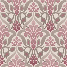 Fusion  Purple Ombre Damask