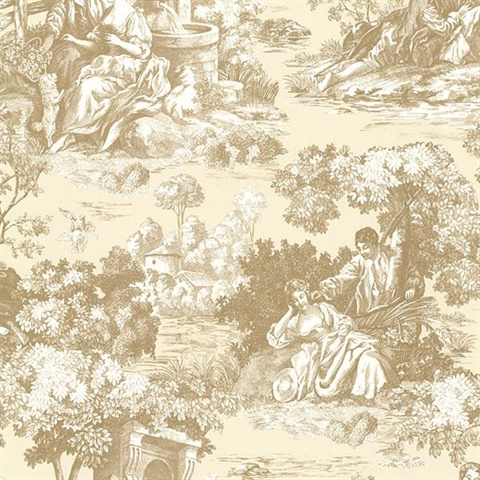 Isabella Gold Toile