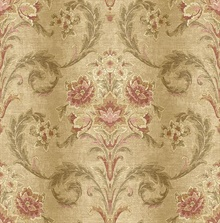 Sophie Wheat Floral Scroll