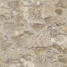 Taupe Faux Stone Wall