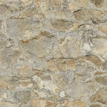 Grey Faux Stone Wall