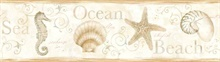 Island Bay Beige Seashells Border