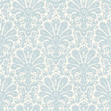 Seascape Blue Damask