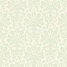 Seascape Green Damask
