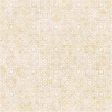 Shell Bay Beige Scallop Damask