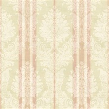 Telford Rose Damask Stripe
