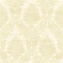 Sinclair Beige Textured Damask