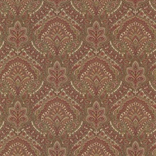 Cypress Burgundy Paisley Damask