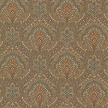 Cypress Chestnut Paisley Damask