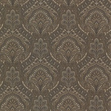 Cypress Charcoal Paisley Damask