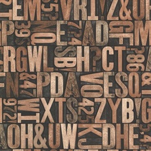 Letterpress Brown Typography