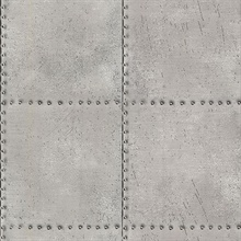 Riveted Silver Industrial Tile