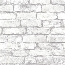 Brickwork Light Grey Exposed Brick Texture
