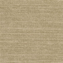 Dierdre  Brown Faux Linen Wallpaper