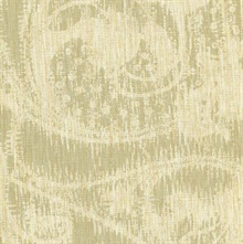 Flynt Wheat Modern Damask Fade Wallpaper
