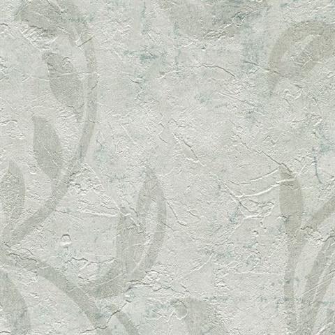 Plume Off White Modern Scroll Wallpaper