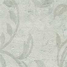 Plume Off White Modern Scroll Wallpaper