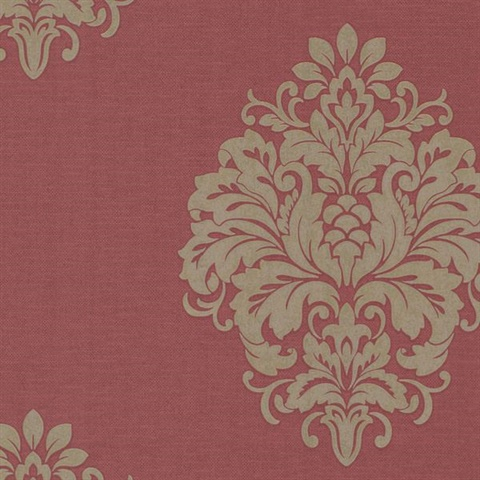 Duchess Red Damask