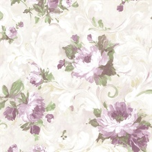 Jasmine Purple Floral Scroll