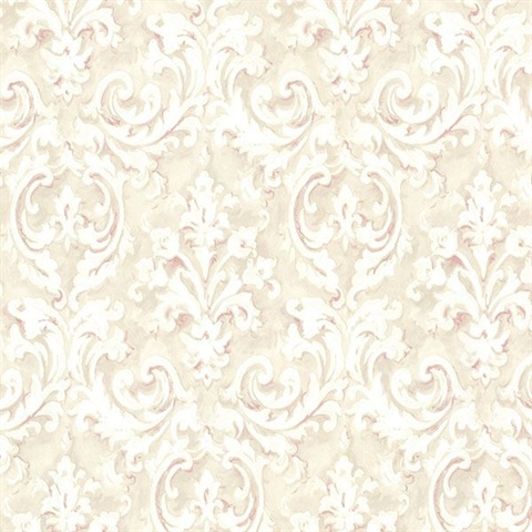 Aurora Rose Damask