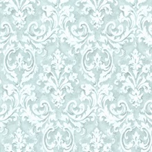 Aurora Blue Damask