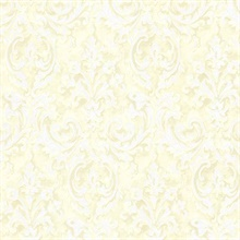 Aurora Yellow Damask