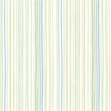 Estelle Blue Watercolor Stripe