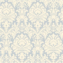 Blue Simple Damask